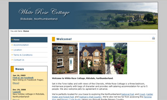 White Rose Cottage, Ridsdale, Northumberland